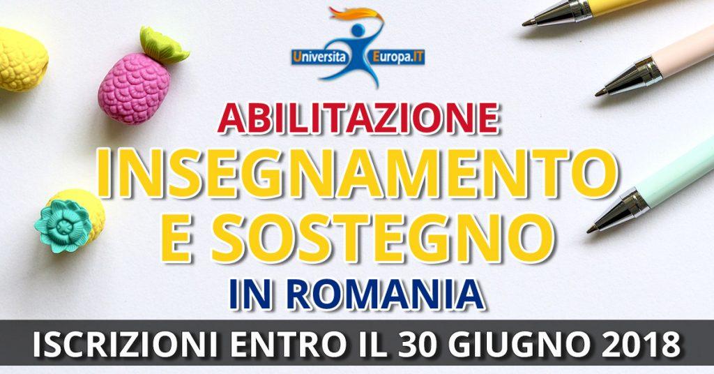 Corsi di abilitazione insegnamento e sostegno in Romania