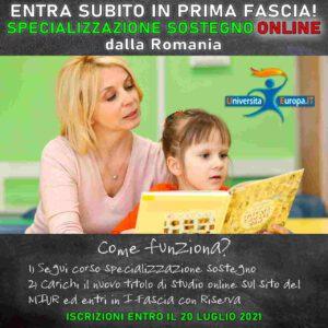 Specializzazione sostegno online